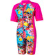 Color Kids Tayac AOP UPF Suit Kids pink glo